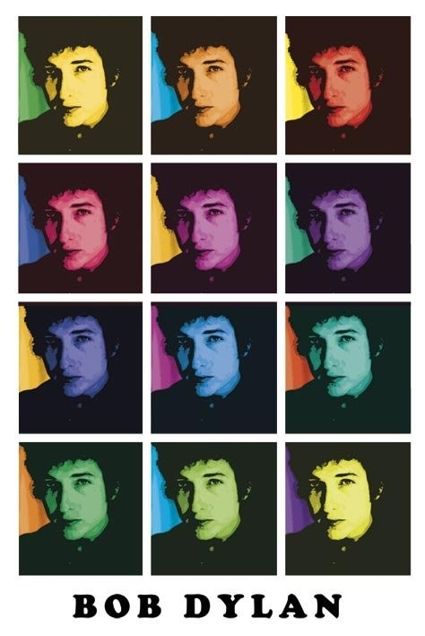 Poster Bob Dylan – colours