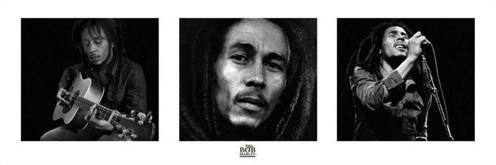 Poster Bob Marley - 3 images (B&W)