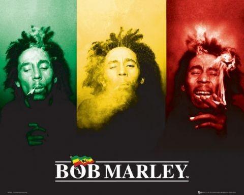 Poster Bob Marley - flag
