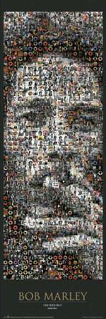 Poster Bob Marley - photomosaic