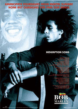 Poster Bob Marley - Redemption song