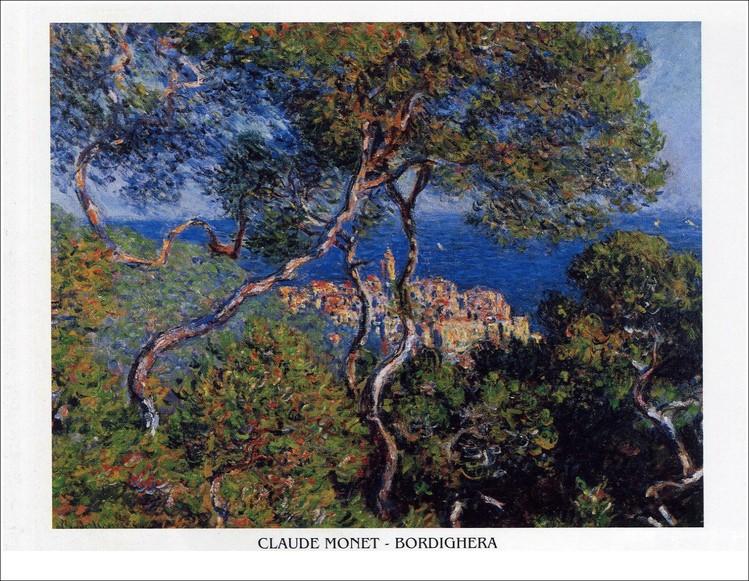 Bordighera, 1884 Kunstdruk