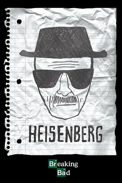 breaking bad heisenberg want poster plakat 3 1 gratis bei europosters. Black Bedroom Furniture Sets. Home Design Ideas
