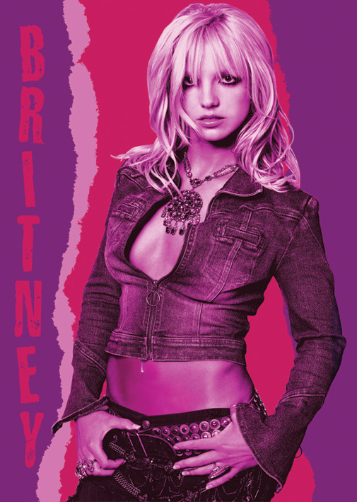 Britney Spears Red pose Poster / Kunst Poster