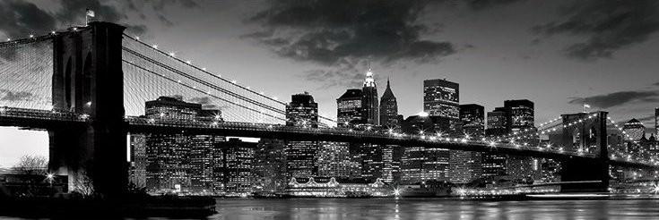 Póster Brooklyn bridge - dusk