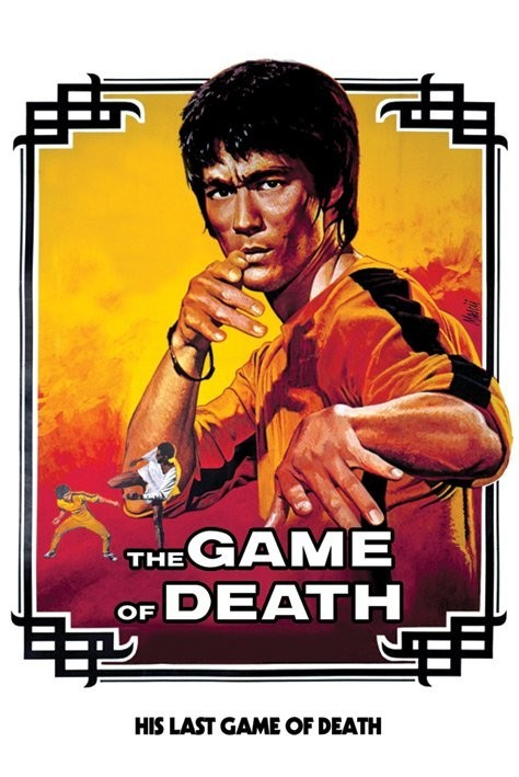 Poster Bruce Lee - game of death/white