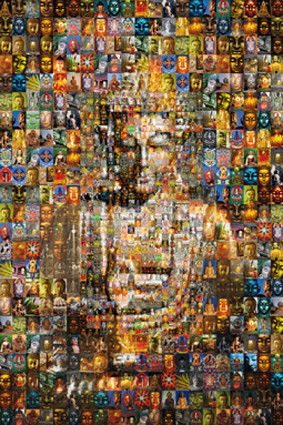 Buddha mosaic Poster / Kunst Poster
