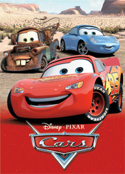 Póster 3D  CARS - charecters 3D