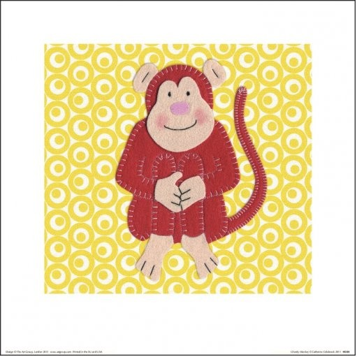 Catherine Colebrook - Cheeky Monkey Kunstdruk
