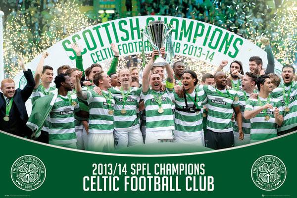 Poster Celtic Fc Spl Winners