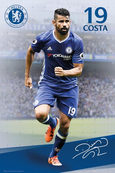 Poster Chelsea - Costa 16/17