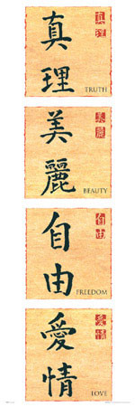 Poster Chinese writing II.