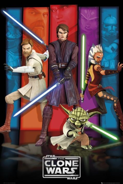 Poster CLONE WARS - colours