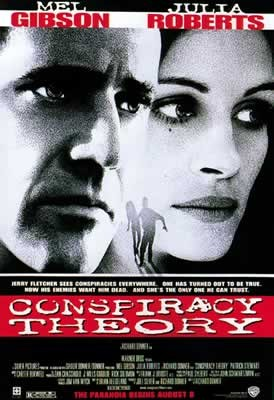 CONSPIRACY THEORY - Mel Gibson, Julia Roberts Poster