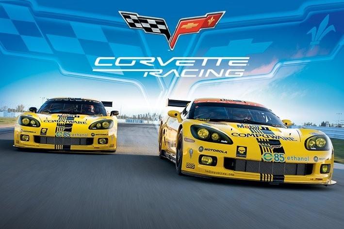 Poster Corvette racing