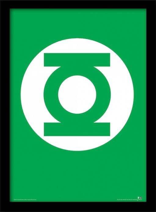 DC Comics - The Green Lantern ingelijste poster met glas