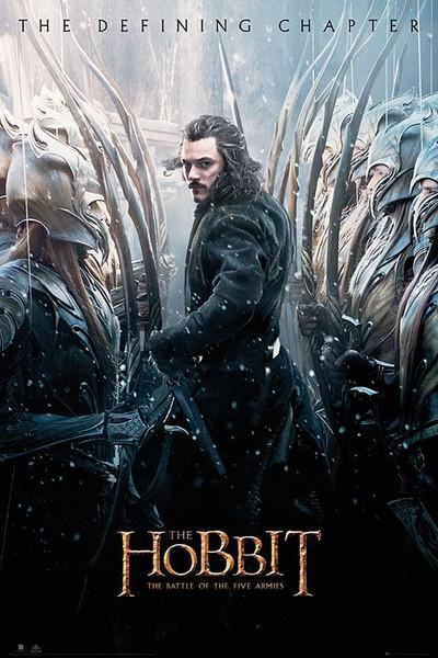 De Hobbit 3: De Slag van Vijf Legers - Luke Evans Poster