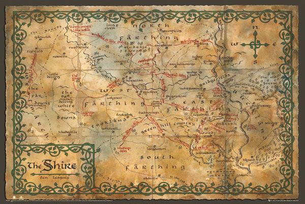 De Hobbit - Kaart Van De Gouw Poster