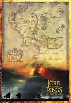 Der Herr Der Ringe Karte Von Mittelerde Poster Plakat 3 1
