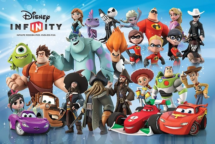 Poster quadro disney infinity character montage su europosters.it