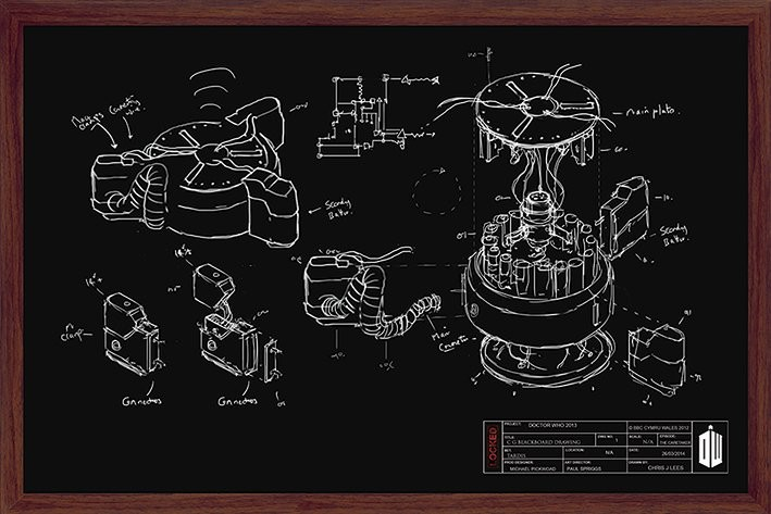 Poster Doctor Who - Chalk Board
