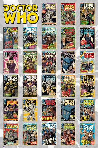 Poster Doctor Who - Comics Compilation