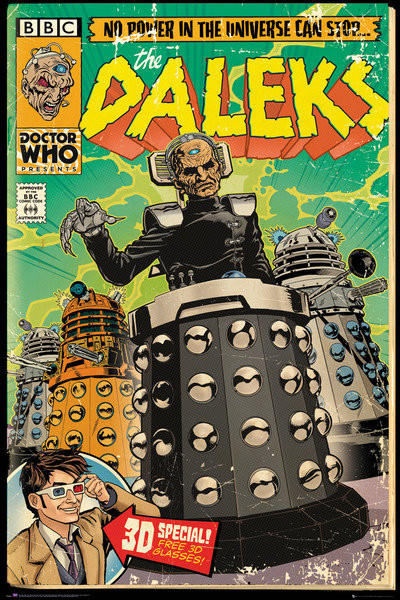 Póster Doctor Who - Daleks Comic