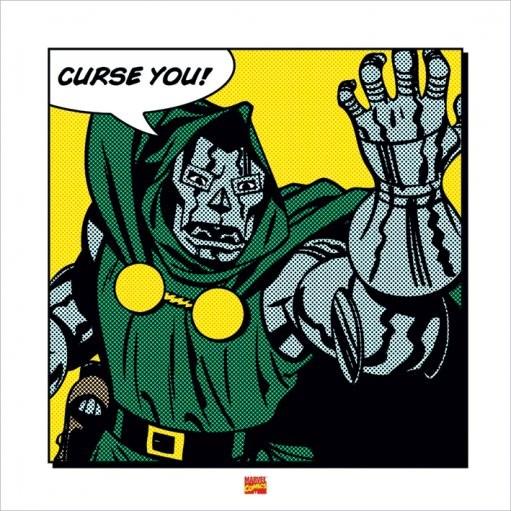 Dr. Doom - Curse You Kunstdruk