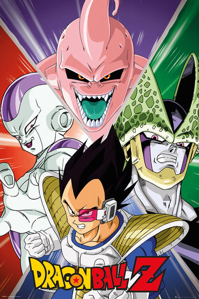 Poster Dragon Ball Z - Villains