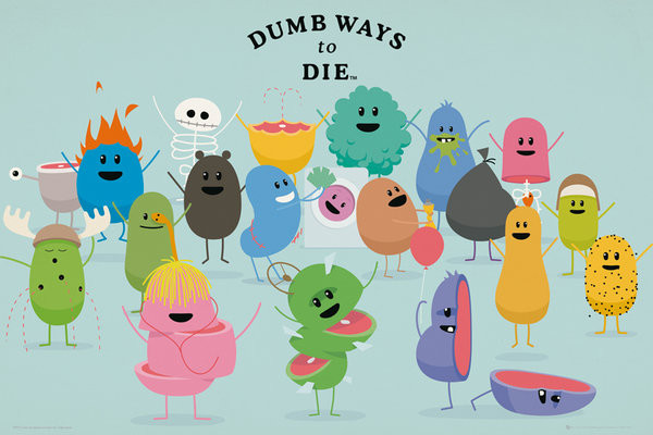 Poster Dumb Ways to Die - Characters