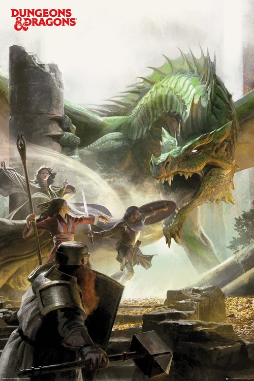 Póster Dungeons & Dragons - Adventure