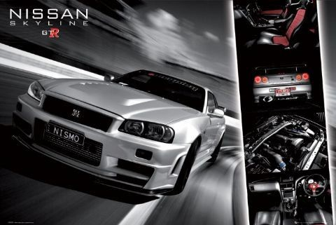 Poster Easton - Nissan skyline gtr