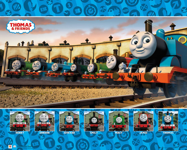 El Tren Thomas Y Sus Amigos Group Póster Lámina Compra En
