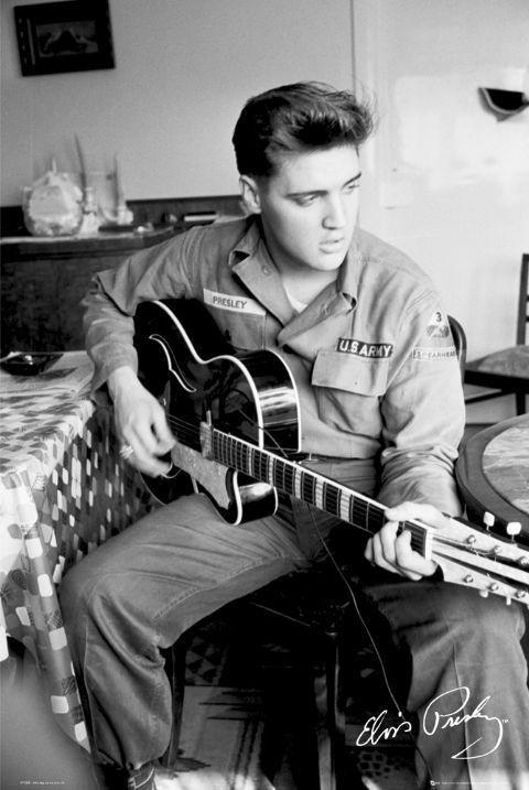 🤩 Elvis Presley - army Póster, Lámina | Compra en EuroPosters.es