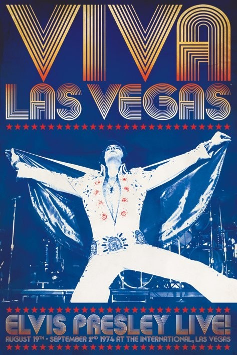 Poster Elvis Presley - viva las vegas
