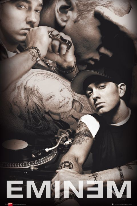 Poster Eminem - collage Bravado