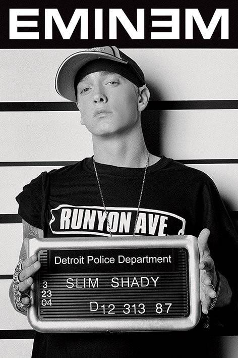 Póster  Eminem - mugshot