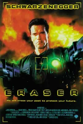 Eraser - Arnold Schwarzenegger, Vanessa Williams Poster