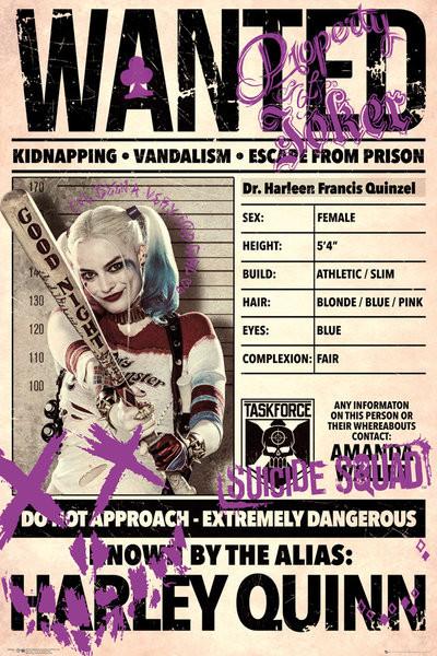 Póster Escuadrón Suicida - Harley Wanted