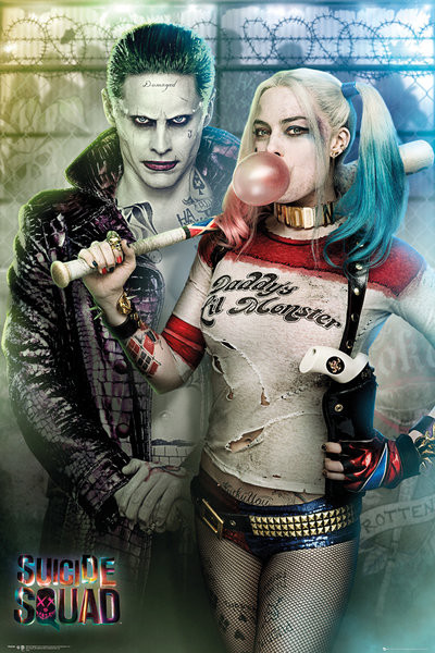 Póster Escuadrón Suicida - Joker and Harley Quinn
