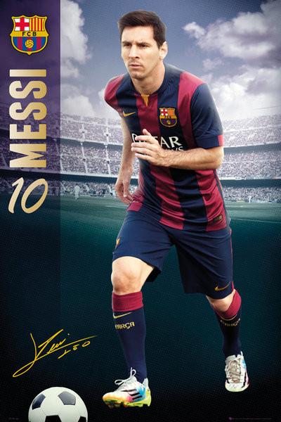 Póster  FC Barcelona - Messi 14/15