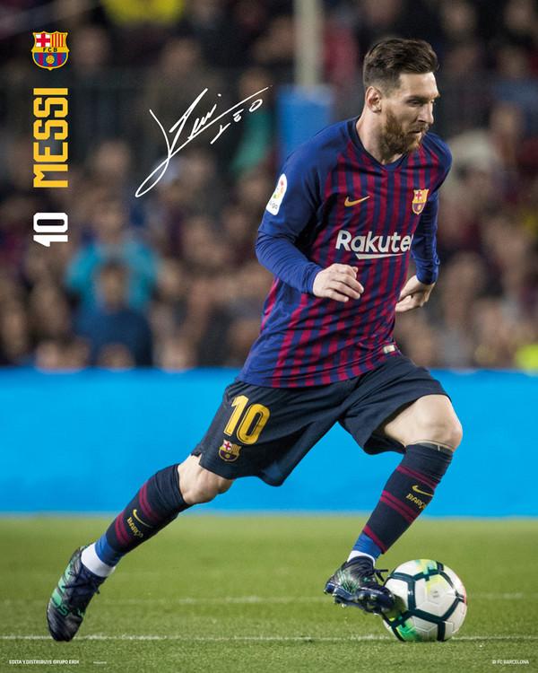 Póster  FC Barcelona - Messi 18-19