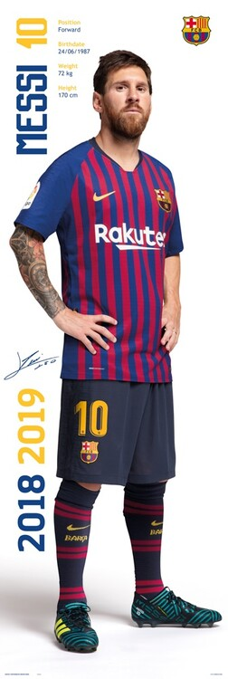 Poster FC Barcelona - Messi 2018/2019