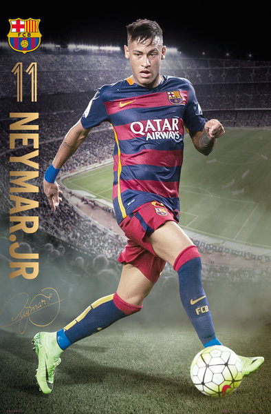 FC Barcelona - Neymar Action 15/16 poster, Immagini, Foto