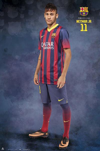 Póster FC Barcelona - Neymar Jr. Pose
