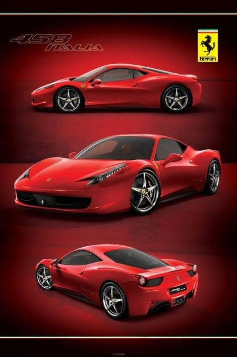 ferrari 458 italia poster plakat 3 1 gratis bei europosters. Black Bedroom Furniture Sets. Home Design Ideas