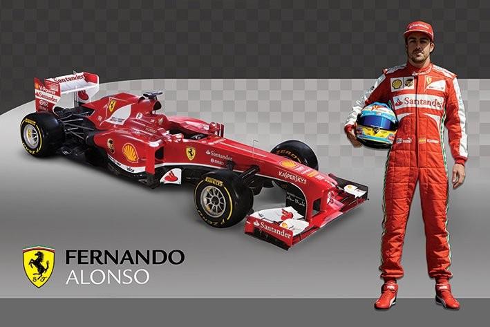 Ferrari Alonso Car Poster Plakat 3 1 Gratis Bei Europosters