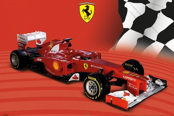 Ferrari F1 2012 Poster Plakat 3 1 Gratis Bei Europosters