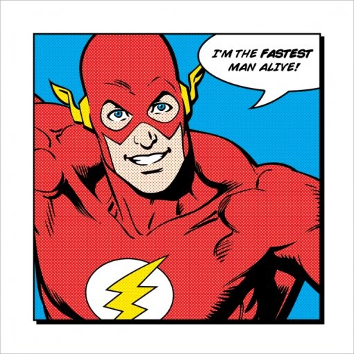 Flash - Fastest Man Alive Kunstdruk