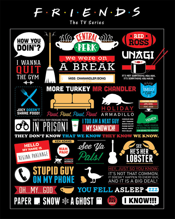 Friends - Infographic Poster